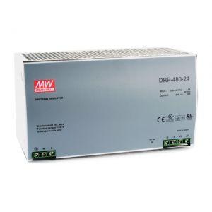 ZASILACZ NA SZYNĘ DIN 24V/480W/20A DRP-480-24 MEAN WELL