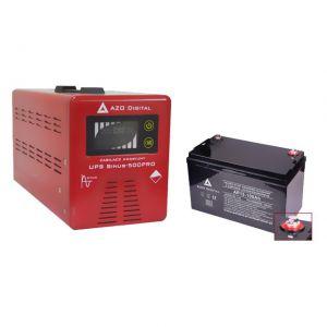 ZASILACZ AWARYJNY SINUS-500PRO (UPS+AVR) 12V/230V 500VA+AKU 12V/100Ah