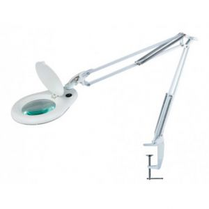 LAMPA Z LUPĄ 3D DO BLATU BIAŁA